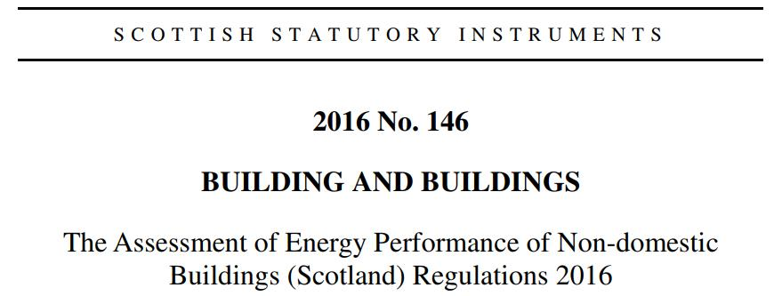 Energy Performance Certificate Regulations in Scotland