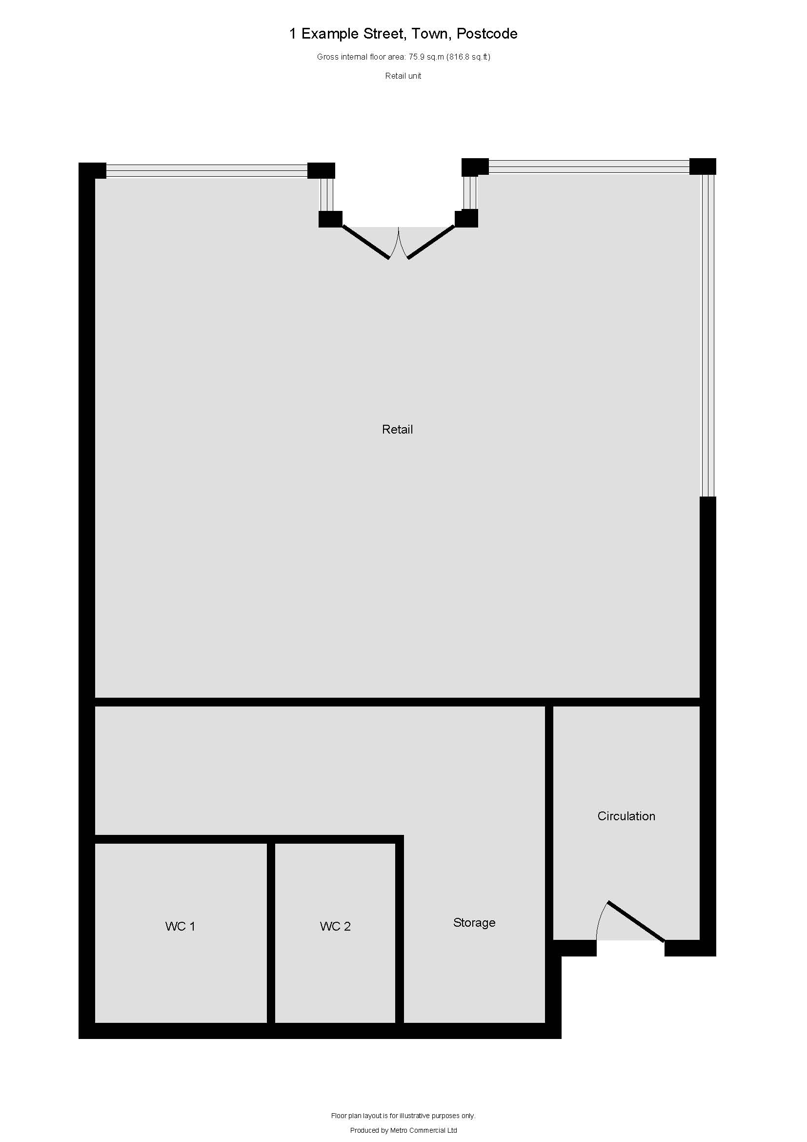Floor Plan layouts for commercial buildings