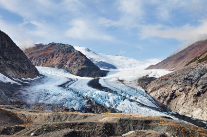 Melting glaciers through climate change?